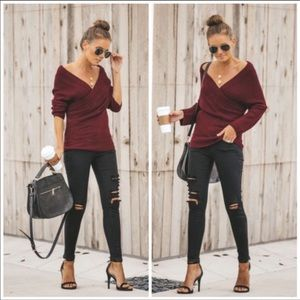 VICI- Off the shoulder sweater